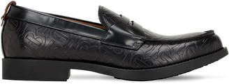 Burberry Emile Tb Embossed Leather Loafers