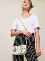 Miss Selfridge Cream mini satchel cross body bag
