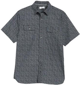 Hickey Freeman Barclay Floral Short Sleeve Regular Fit Shirt
