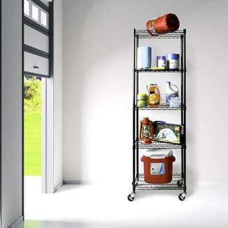 "Seville Classics Inc. 72"" x 24"" UltraDurable Commercial-Grade 5-Tier NSF-Certified Steel Wire Shelving Inc."