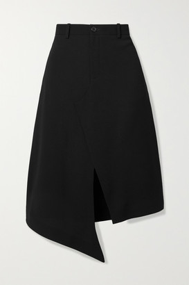 Maison Margiela Asymmetric Crepe Skirt - Black