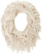Charlotte Russe Fringe Trim Infinity Scarf