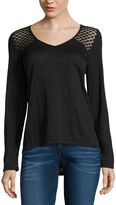 i jeans by Buffalo 3/4 Sleeve Lace Hacci Top