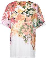 MM6 MAISON MARGIELA floral print T-shirt - women - Cotton/Polyester - M