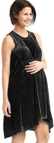 Gap Maternity velvet racerback dress