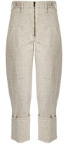 Isabel Marant Eugenie high-rise peg-leg denim trousers