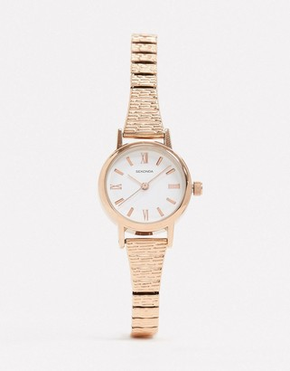 Sekonda expandable watch in rose gold