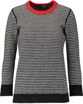 Halston Striped wool-blend sweater