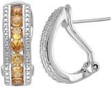 Allura 1.54 CT. T.W. Citrine Channel Set Earrings in Sterling Silver