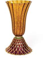 Jay Strongwater Brocade Feather Vase