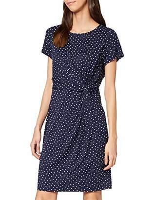 Yumi Spot Ruched Jersey Dress