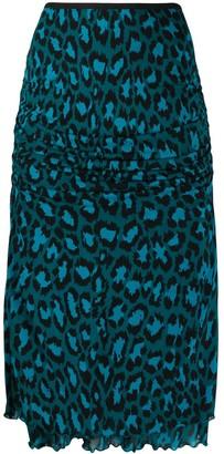 Diane von Furstenberg leopard print pencil skirt