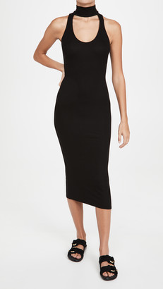 Enza Costa Mock Neck Sleeveless Midi Dress