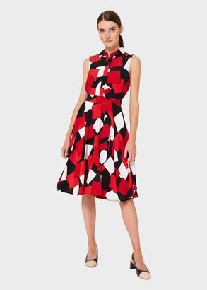 Hobbs Belinda Geometric Fit And Flare Dress