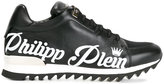 Philipp Plein branded lace-up trainers - men - Leather/rubber - 40