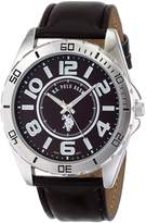 U.S. Polo Assn. Men's Analogue Dial Leather Strap Watch USC50003