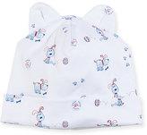 Kissy Kissy Pup Paw-trol Printed Pima Baby Hat w/ Ears