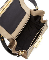 Zac Posen Eartha Extreme Soft Colorblock Satchel Bag, Cashmere
