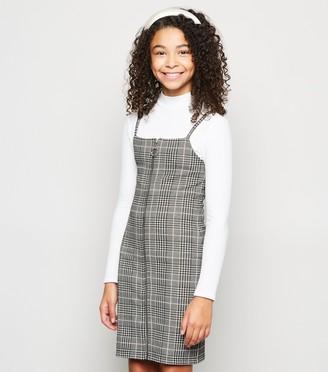 New Look Girls Check Pinafore Dress