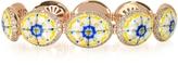 Azhar Capri Silver, Zircon and Enamel Bracelet