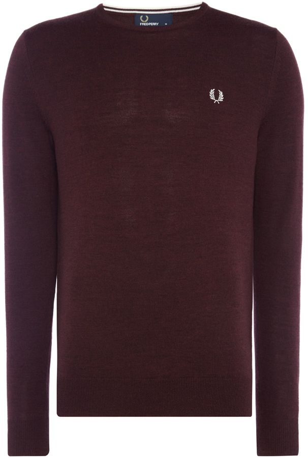 Fred Perry Men's Classic Crew Neck Jumper