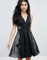 Forever Unique Deep V Skater Dress