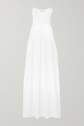 Ninety Percent + Net Sustain Organic Cotton-jersey Maxi Dress - White