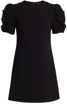 Alice + Olivia Hanita Puff-Sleeve Mini Dress