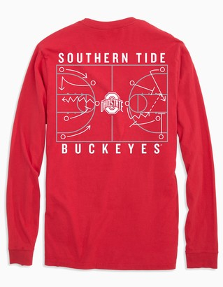 Southern Tide Ohio State Buckeyes Long Sleeve Basketball T-Shirt