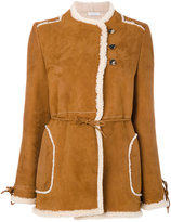 J.W.Anderson double breasted sheep skin jacket - women - Lamb Skin/Buffalo Horn - 8
