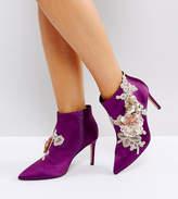 Asos ELEGANCE Wide Fit Embellished Pointed Ankle Boots