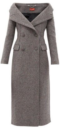 Altuzarra Barbara Off-shoulder Wool-blend Coat - Grey
