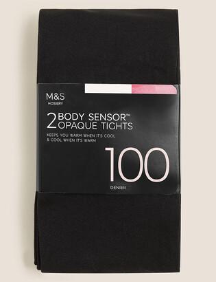 Marks and Spencer 2 Pack 100 Denier Body Sensor Opaque Tights