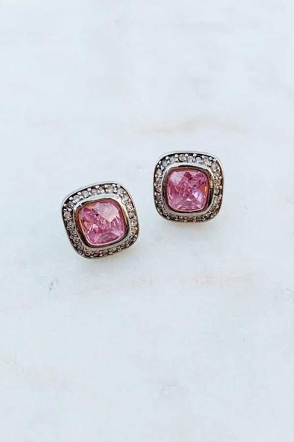 16e8f4efb7b Wild Lilies Jewelry Square Crystal Studs