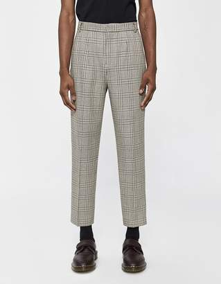 Need Double Pleat Trouser in Brown Houndstooth