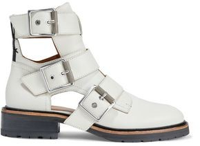 Rag & Bone Cutout Buckled Leather Ankle Boots