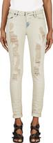 IRO Light Beige Shredded Nash Jeans