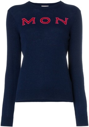 Moncler logo intarsia knitted cashmere jumper