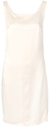 Chanel Pre Owned Square Neck Shift Dress