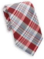 Saks Fifth Avenue Madras Plaid Cotton & Silk Tie