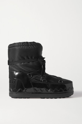Bogner Trois Vallees 11a Faux Patent Leather-trimmed Shell Snow Boots - Black