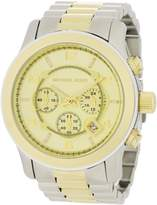 Michael Kors Men's Runway MK8098 Two-Tone Stainless-Steel Quartz Watch with Gold Dial