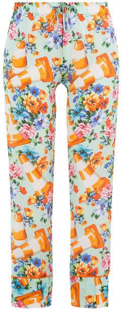 Moschino Printed Cotton-Silk Pants