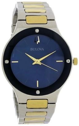 Bulova Women's 98R273 'Millenia' Two-Tone Stainless Steel Watch - Blue