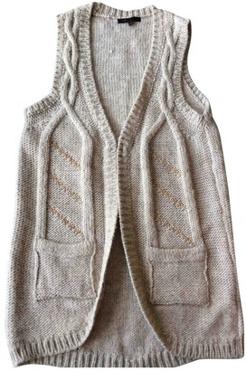 Maje Beige Wool Knitwear for Women