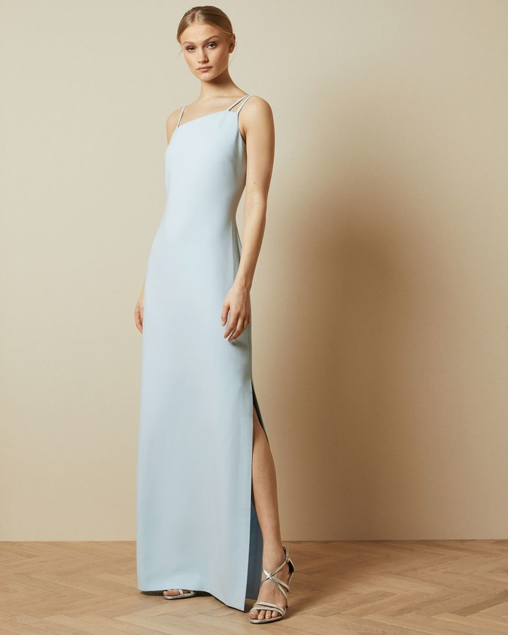 Ted Baker Asymmetric Strap Maxi Dress