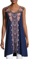Johnny Was Yojo Sleeveless Embroidered Tunic, Plus Size