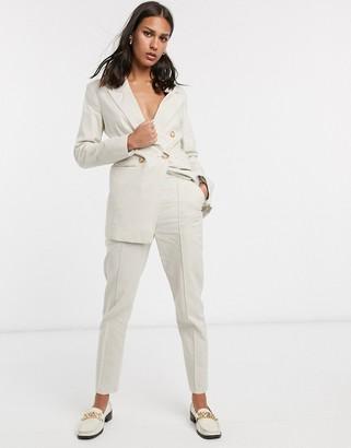 ASOS DESIGN ultimate linen cigarette suit pants