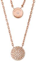 Michael Kors Two Layer Double Pendant Necklace