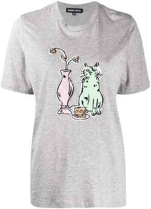 Markus Lupfer Alex sequin tea time cat T-shirt